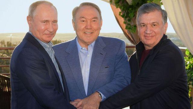 Путин, Назарбаев, Мирзиёев
