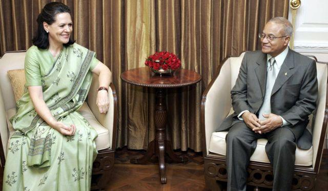 सोनिया गांधी, मालदीव के तात्कालीन राष्ट्रपति अब्दुल्ला यामीन अब्दुल ग़यूम