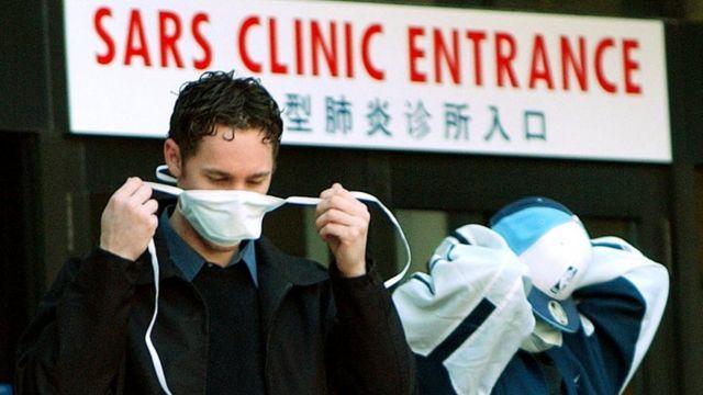 Pacientes durante la crisis del SARS.