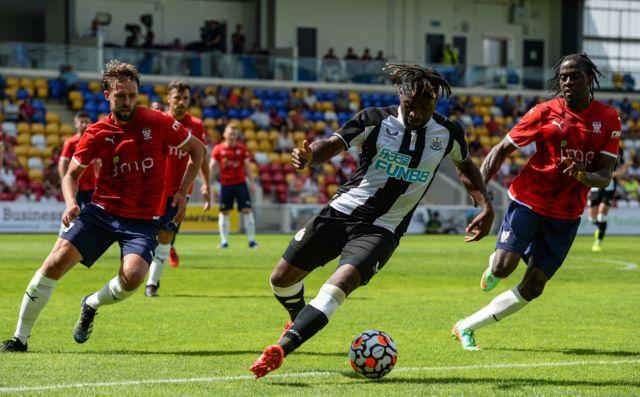 Allan Saint-Maximin in action during pre-season