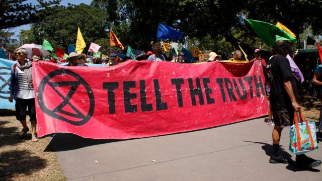 protesta de Extinction Rebellion
