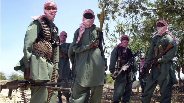 ソマリアのアルシャバブ兵(2008年、モガディシオ郊外で)