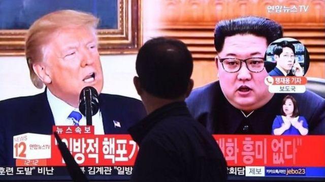 كيم جونغ أون ودونالد ترامب