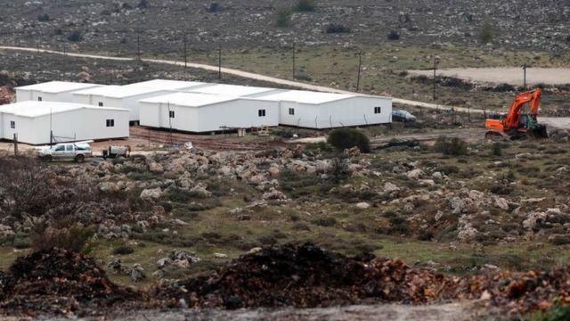 Inzu nshasha za Israel muri West Bank mu buraruko bwa Ramallah. ifoto: itariki 31 ukwezi kwa mbere mu 2017