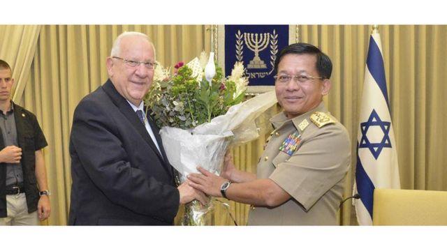 အစ္စရေးသမ္မတနဲ့ ဗိုလ်ချုပ်မှူးကြီးမင်းအောင်လှိုင်