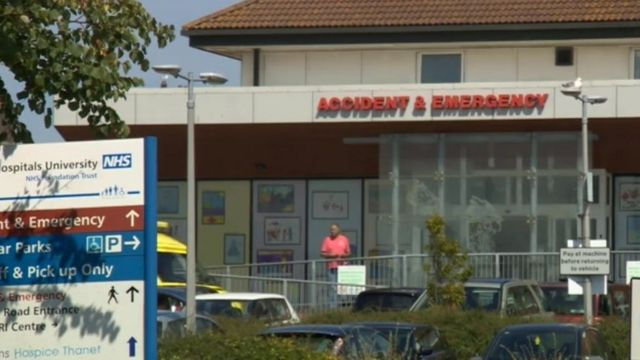 Emergency unit at QEQM Hospital in Margate without power