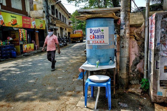 Kiosco para lavarse las manos