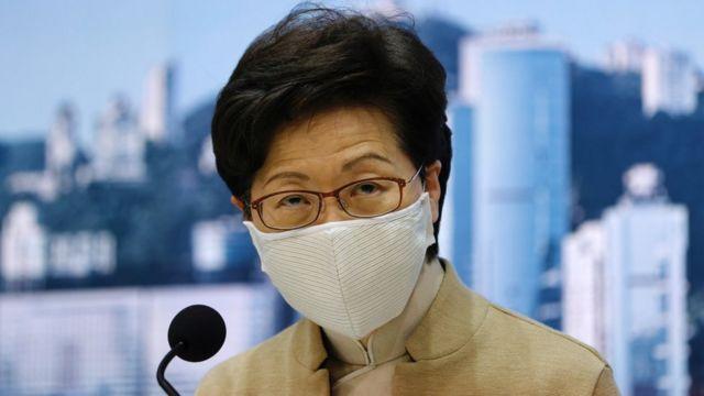 林郑月娥在香港政府总部会见记者(11/11/2020)