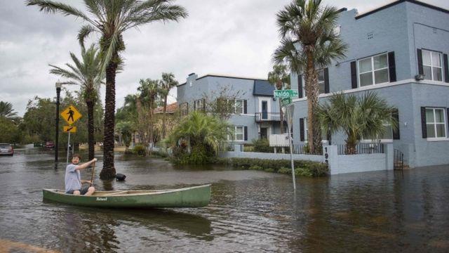 Inundación en Jacksonville, Florida
