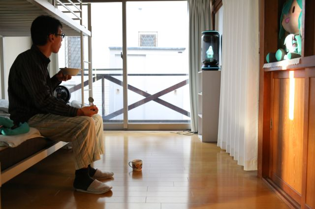 Akihiko Kondo in his flat