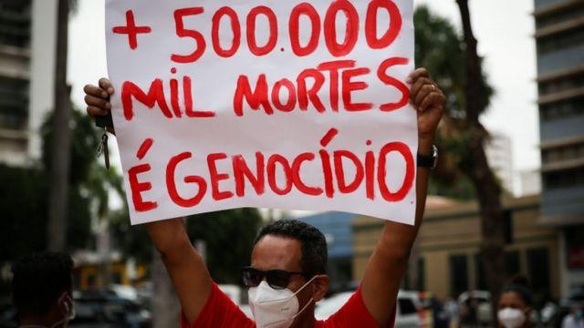 Marco sombrio' de 500 mil mortes e 'protestos contra o presidente': a tragédia brasileira na imprensa internacional - BBC News Brasil