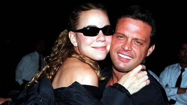 Mariah Carey y Luis Miguel en Beverly Hills, en 2001.