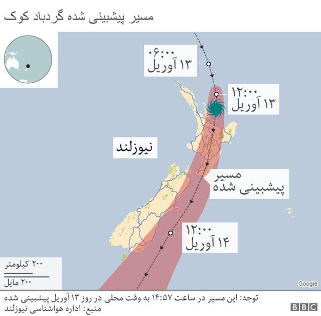 نقشه نیوزلند