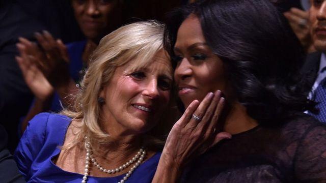 Jill Biden y Michelle Obama