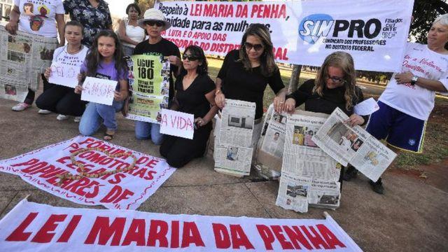 Protesto pela Lei Maria da Penha
