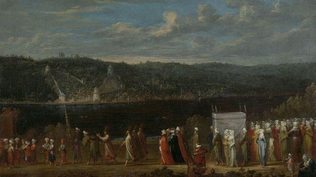 18ویں صدی میں سلطنت عثمانیہ میں ایک شادی کی تصویر