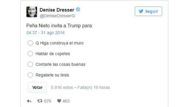 Tuit de Denise Dresser