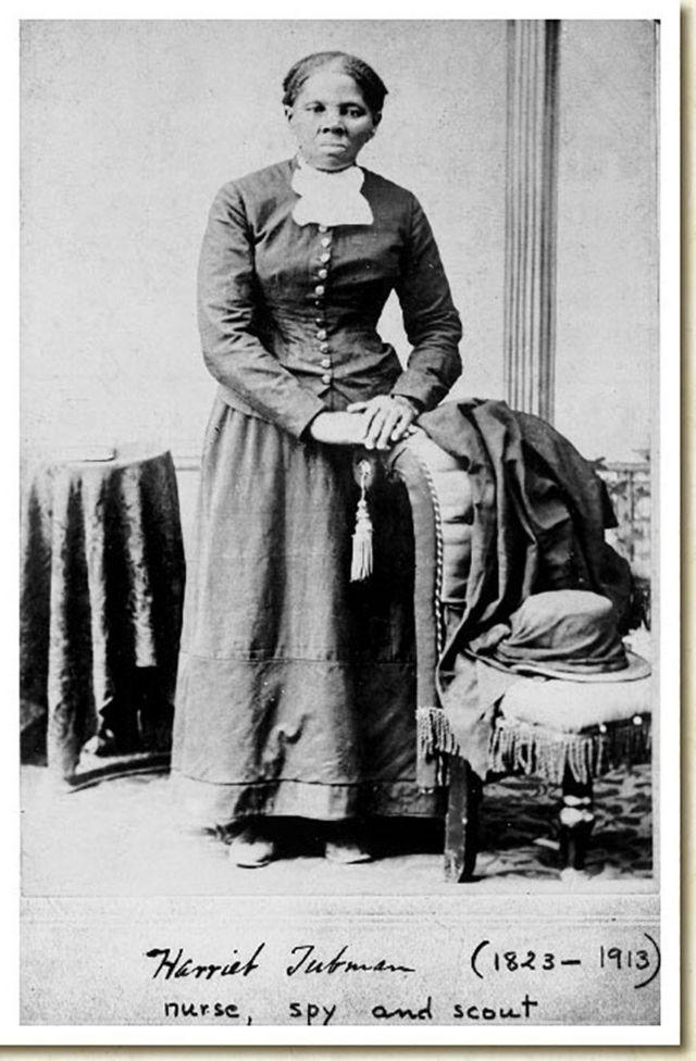 Harriet Tubman em uma foto da Biblioteca do Congresso tirada pelo fotógrafo H.B. Lindsley entre 1860 e 1870