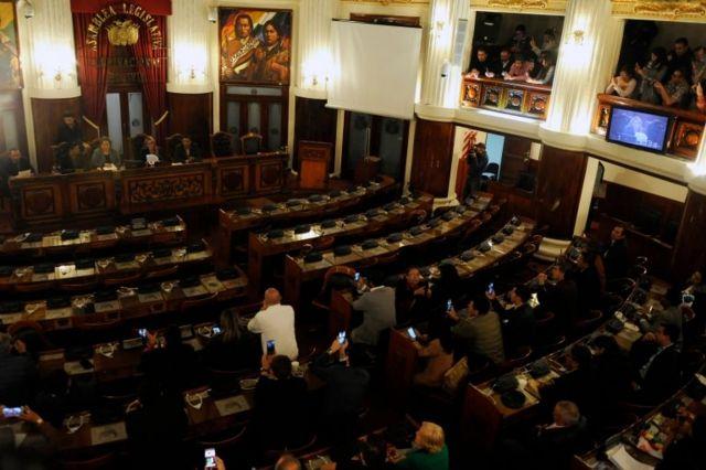 La ausencia de parlamentarios oficialistas hacía pensar que no había quórum.