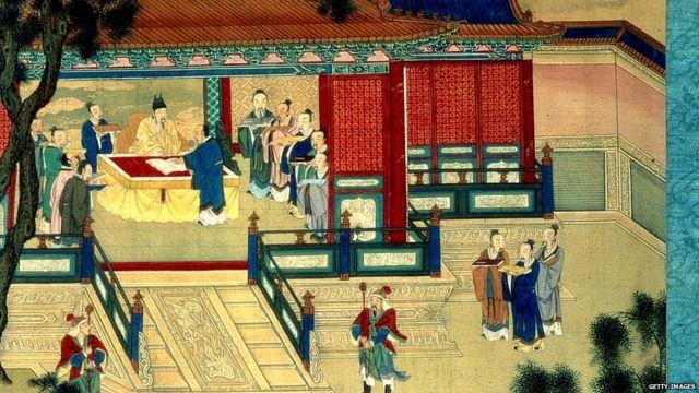 Han dynasty Emperor translating classical books