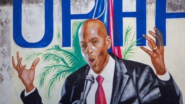 Mural de Moïse em Porto Príncipe