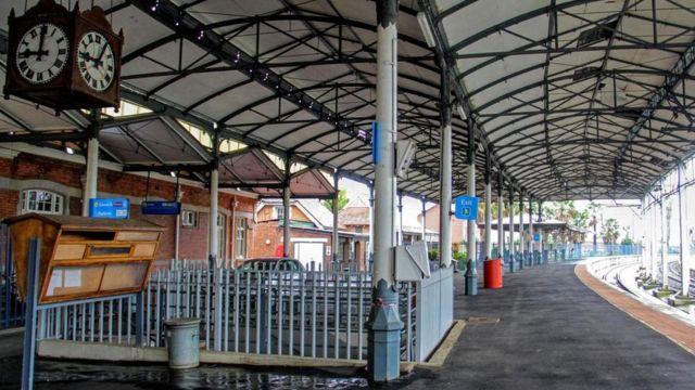 Estação de trem na África do Sul