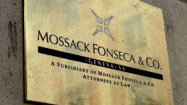 Letrero del despacho de Mossack Fonseca