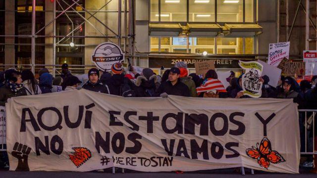 """Manifestación a favor de la liberación de Daniel Ramírez Medina, un """"dreamer"""" detenido por las autoridades migratorias."""