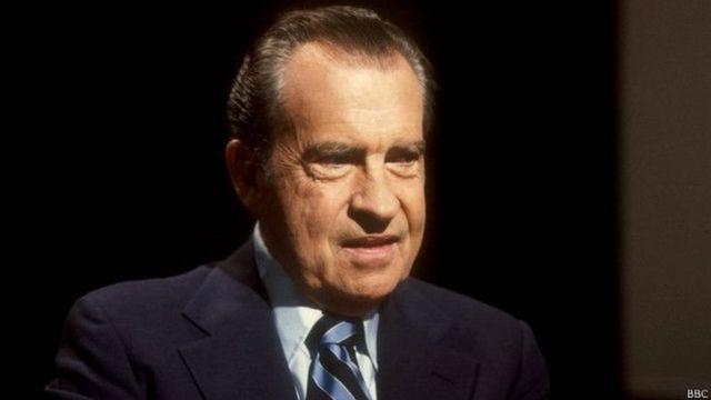 अमरीका के पूर्व राष्ट्रपति रिचर्ड निक्सन