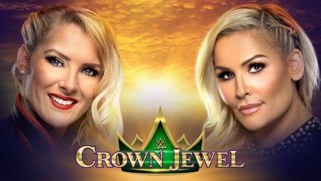 Image promotionnelle de la WWE montrant Lacey Evans et Natalya