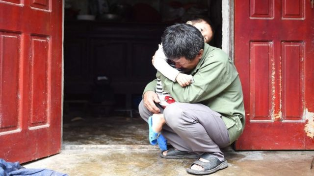 Le Minh Tuan, pictured here, fears his son, Le Van Ha, was among the dead in Essex