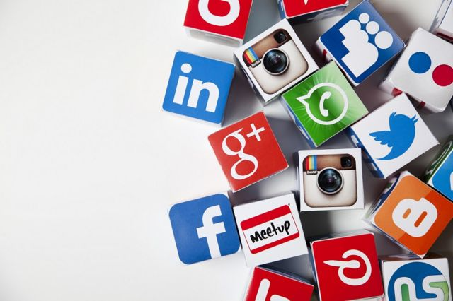 Logos de empresas de mídias sociais