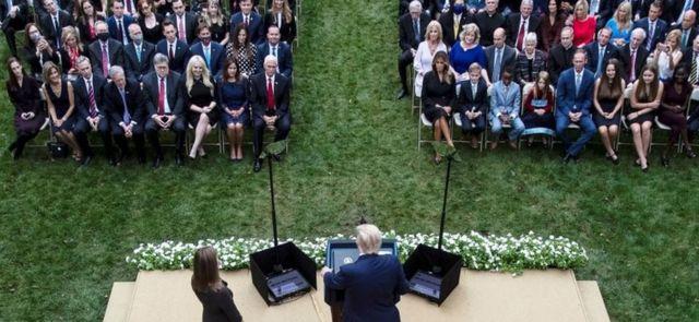 مراسم معرفی ایمی برت به عنوان نامزد دیوان عالی در کاخ سفید