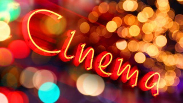 Letrero que dice Cinema