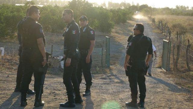 Policias invesitigan un crimen.