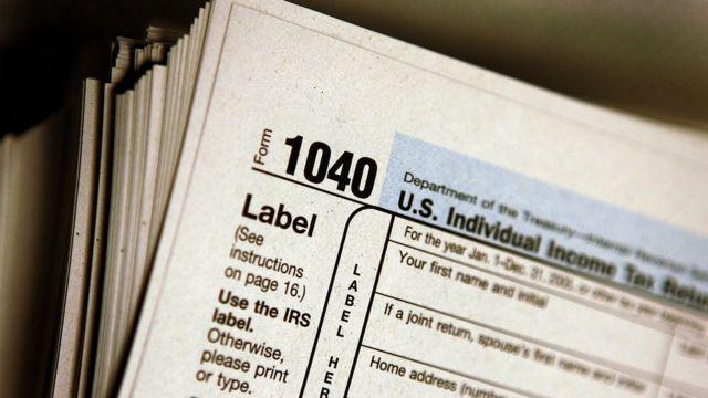 Formulario 1040 para declarar impuestos