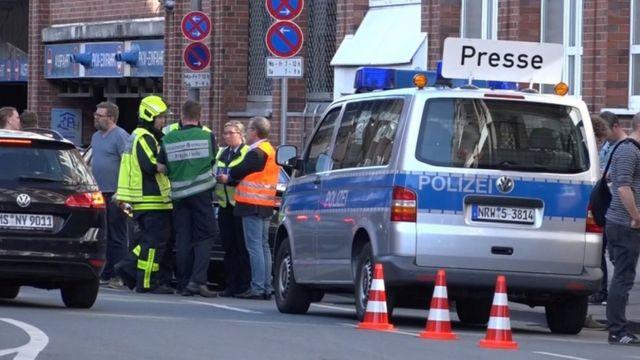 La policía en el lugar del incidente.