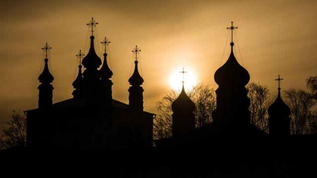 A view of the Goritsky Monastery of Dormition in Pereslavl-Zalessky