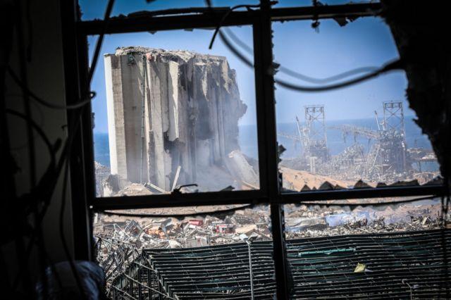 مرفأ بيروت بعد يوم على الانفجار، 5 أغسطس/آب 2020