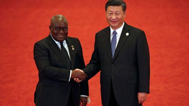 Ghana presido Nana Akufo-Addo with China presido Xi Jinping