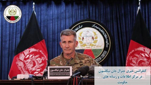 ژنرال جان نیکلسون، فرمانده نیروهای آمریکایی و ناتو در افغانستان