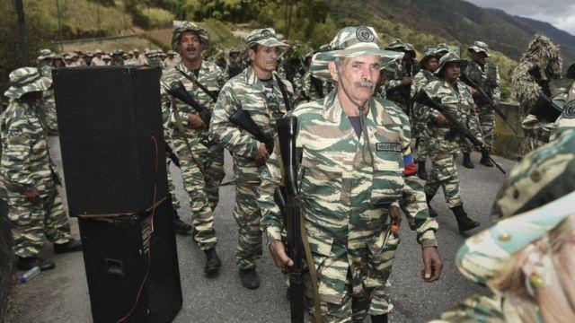 Ejercicios militares en Venezuela.
