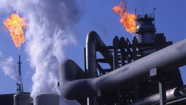 Una planta petrolera de irán