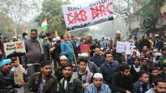 নাগরিকত্ব আইনের বিরুদ্ধে ভারতে দিল্লিসহ বহু জায়গায় বিক্ষোভ হয়েছে