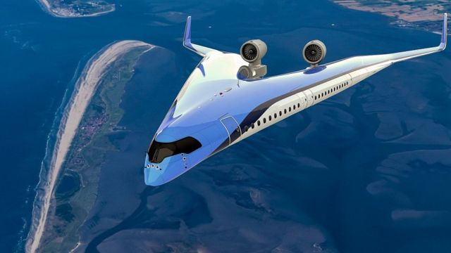 Impressão artística do Flying-V