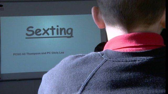"""Pupils learning about """"sexting"""""""