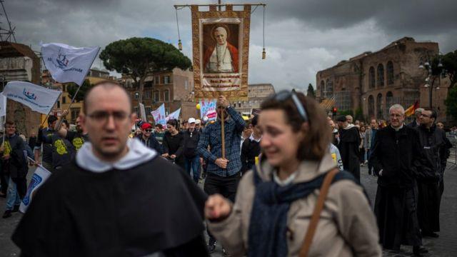 Marcha contra el aborto en Italia