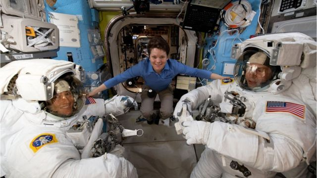 Nasa astronauts on the International Space Station