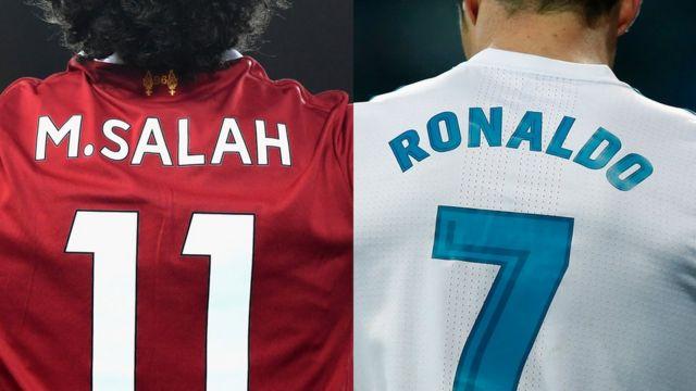 akọyinsi Salah ati Ronaldo
