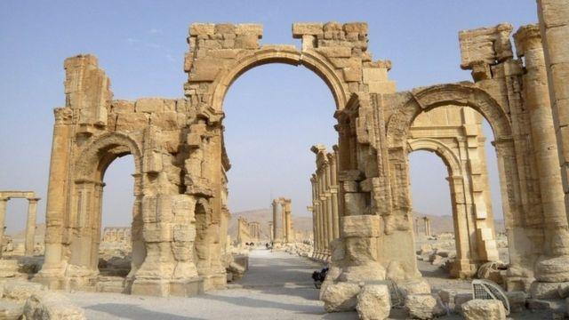 Triumphal Arch in Palmyra (file picture)